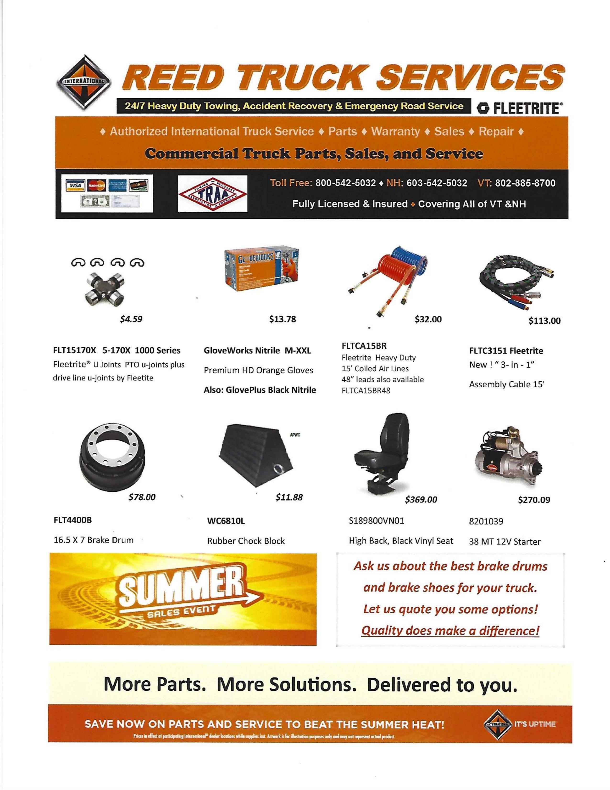 Reed Truck Parts Flier_July 2017