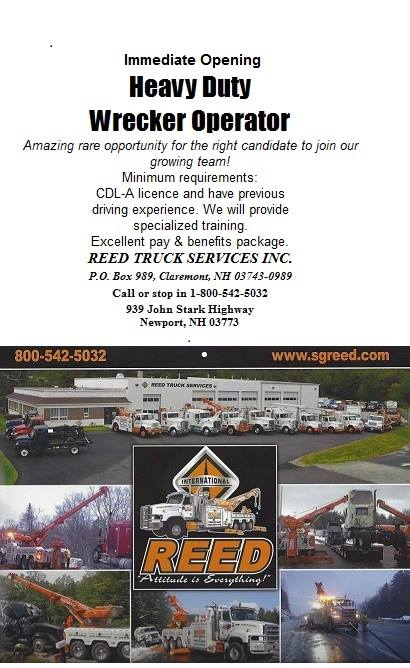 Reed Truck Employment Ad Sept 2015